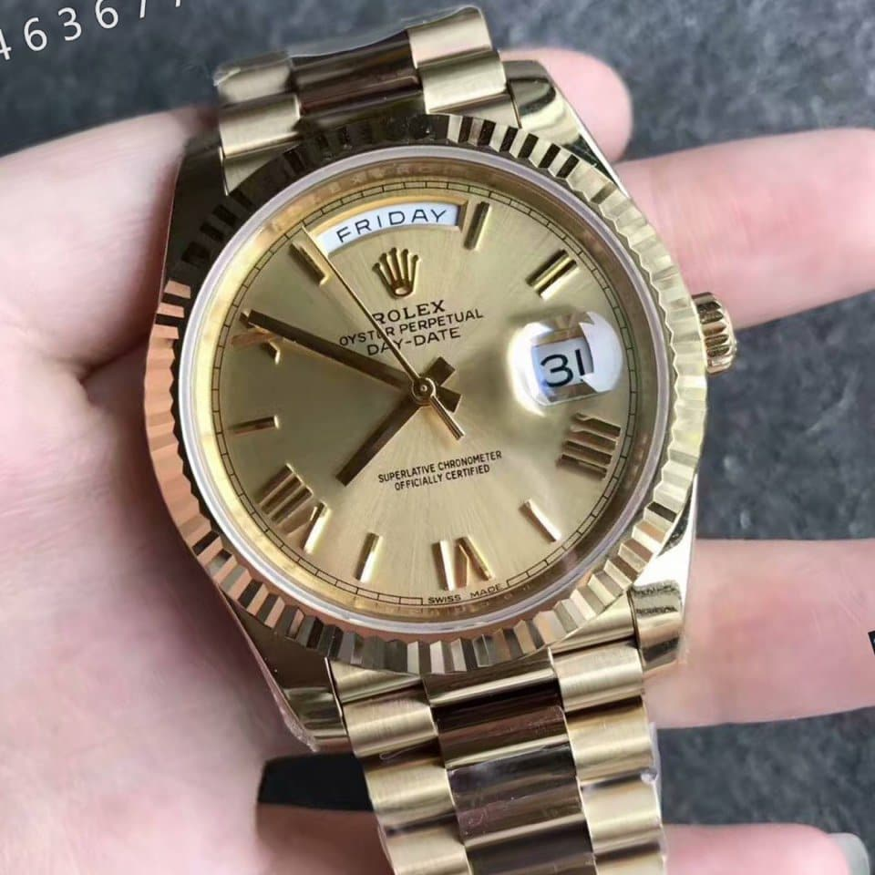 Rolex  Day-Date 40 Watchct yellow gold fake 1-1 cao cấp