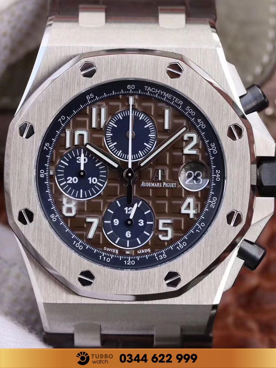 Audemas piguet   Oak Offshore Chronograp brown fake 1-1 cao cấp