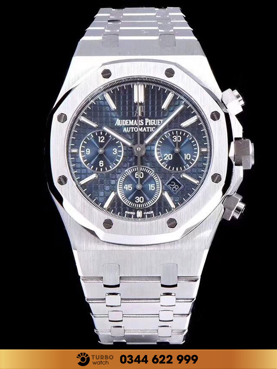 Audemas piguet ROYAL OAK CHRONOGRAPH BLUE DIAL fake 1-1 cao cấp