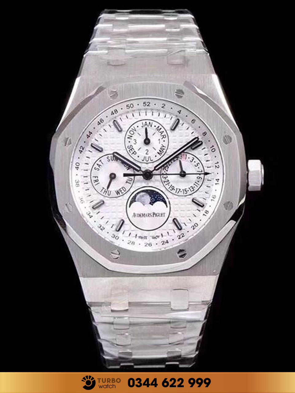 Audemas piguet  Royal Oak Perpetual Calendar Watch fake 1-1 siêu cấp