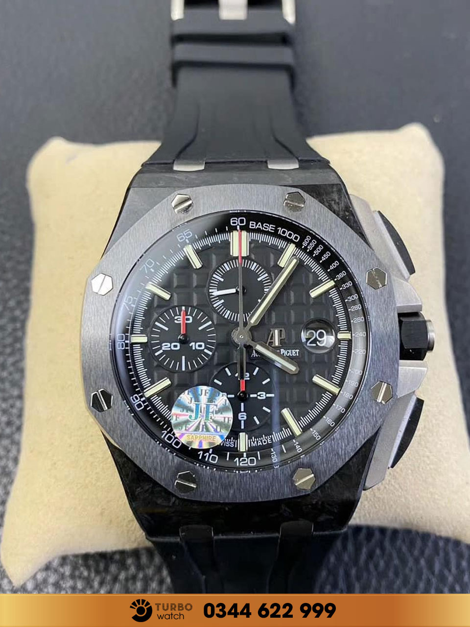 Audemas piguet  Royal Oak Offshore Chronograph  Black Carbon Ceramic replica 1-1 cao cấp