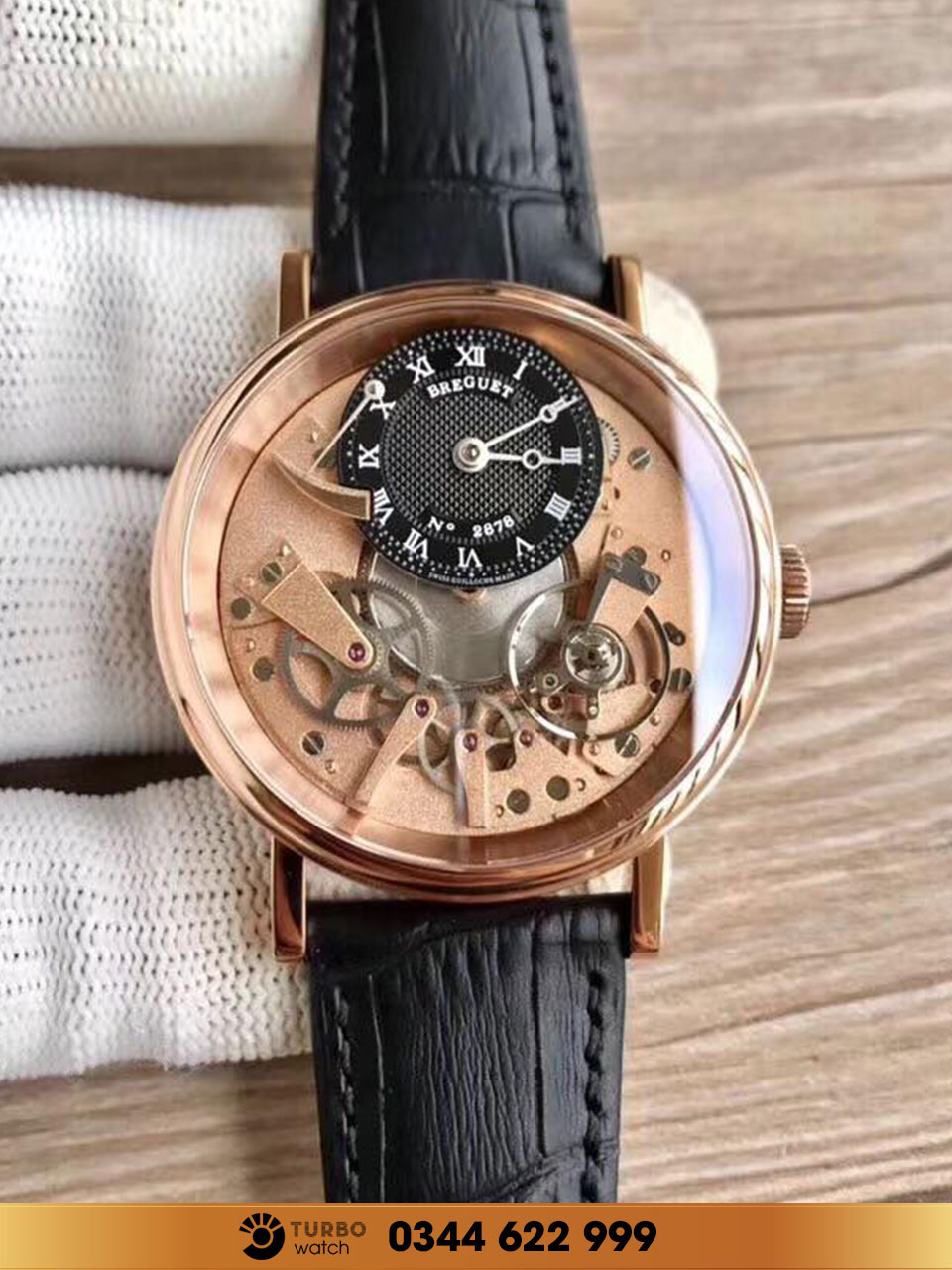Breguet  Tradition Manual Wind  18K Rose Gold 7057BB/G9/9W6  replica 1-1 cao cấp