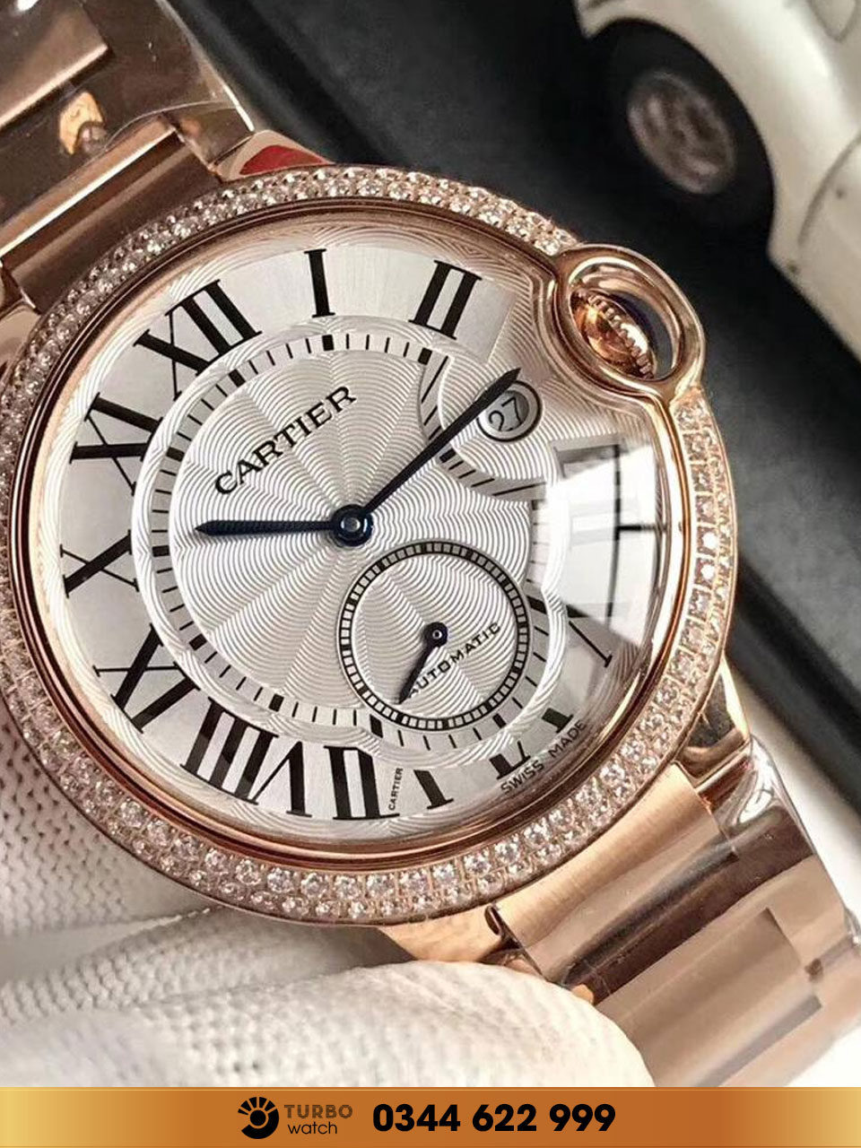 CATIER  Ballon Bleu 18k Rose Gold diamond fake 1-1 cao cấp