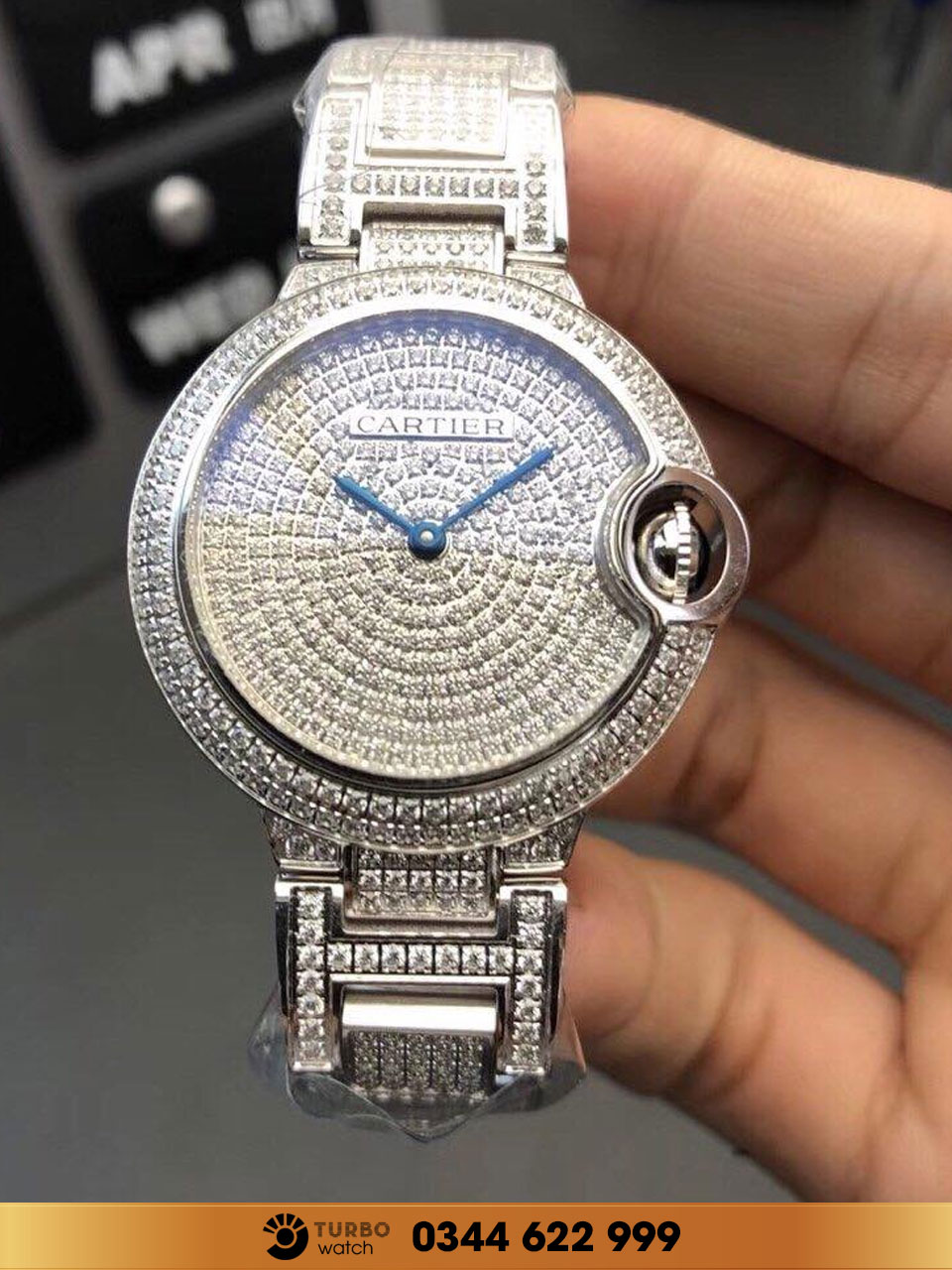 CATIER BALLON BLEU DE WHITE DIAMONDS replica 1:1 cao cấp