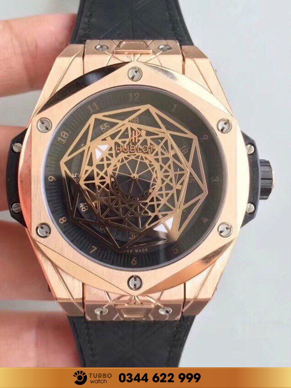 Hublot  Big Bang Sang Bleu King Gold  fake 1-1 siêu cấp