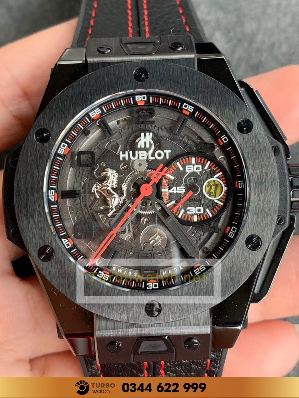 HUBLOT BIG BANG UNICO FERRARI TITANIUM LIMITED EDITION fake 1-1 siêu cấp