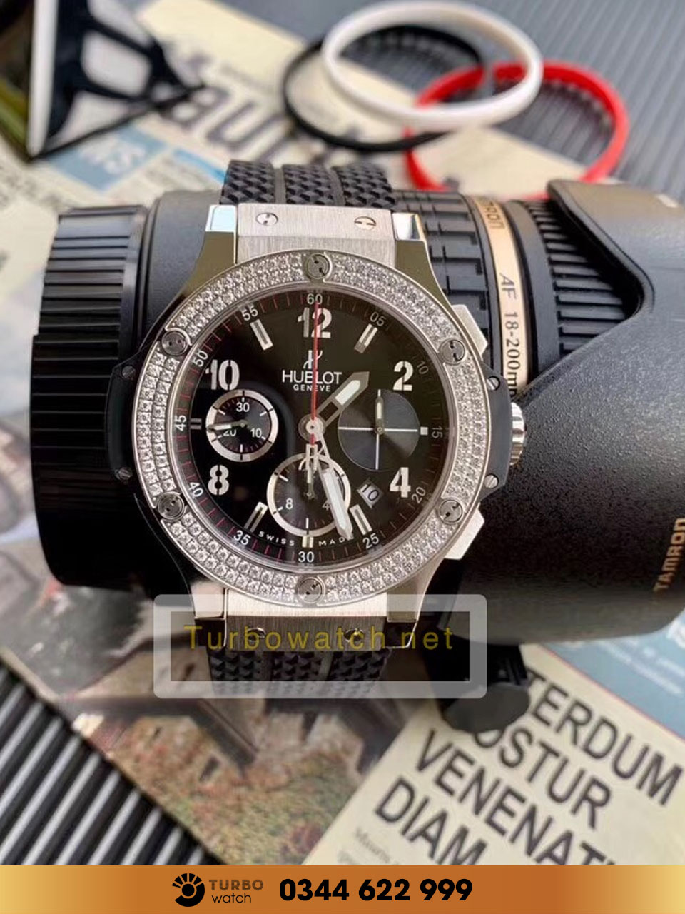 Hublot BIG BANG CHRONOGRAPH DIAMOND PAVE fake 1-1 siêu cấp