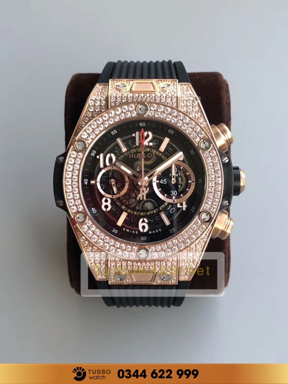 Hublot BIG BANG UNICO KING GOLD PAVE replica 1:1 cao cấp