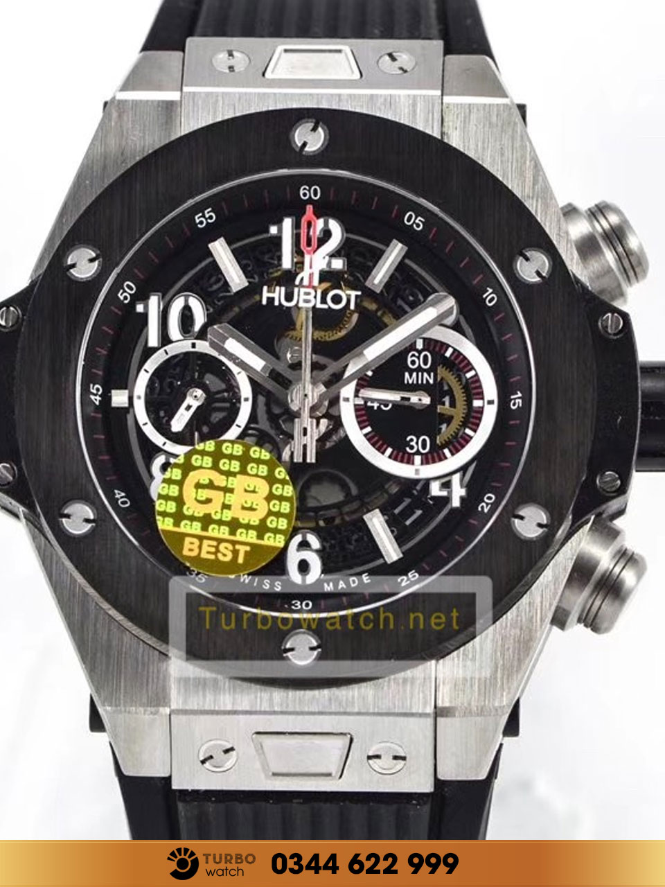 Hublot BIG BANG UNICO TITANIUM black  replica 1:1 cao cấp