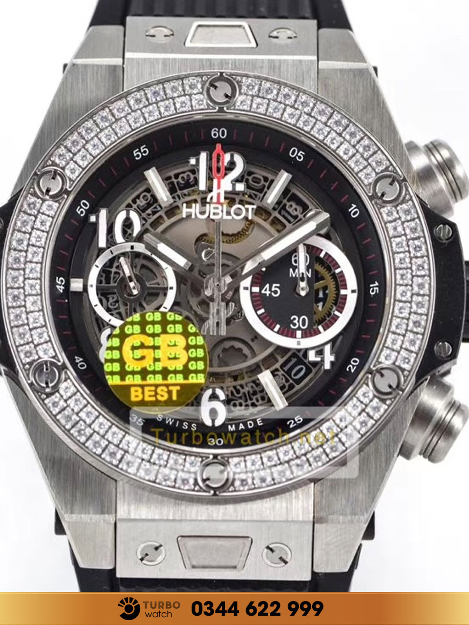 Hublot Big Bang Unico Titanium Diamonds REPLICA 1-1 CAO CẤP