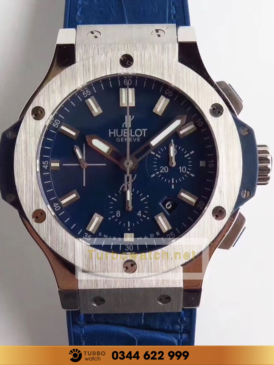 Hublot Big Bang Steel Blue Chronograph replica 1:1 CAO CẤP