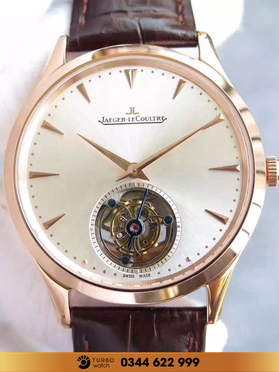 Jaeger-Lecoultre reveals the Master Ultra Thin Tourbillon in pink gold replica1:1 CAO CẤP