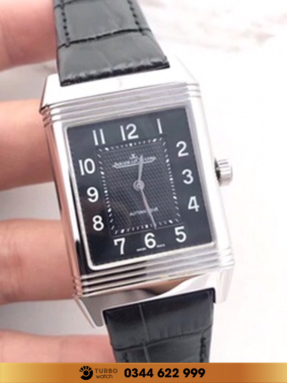 Jaeger-Lecoultre Reverso Classic Large Duoface black fake 1-1 cao cấp