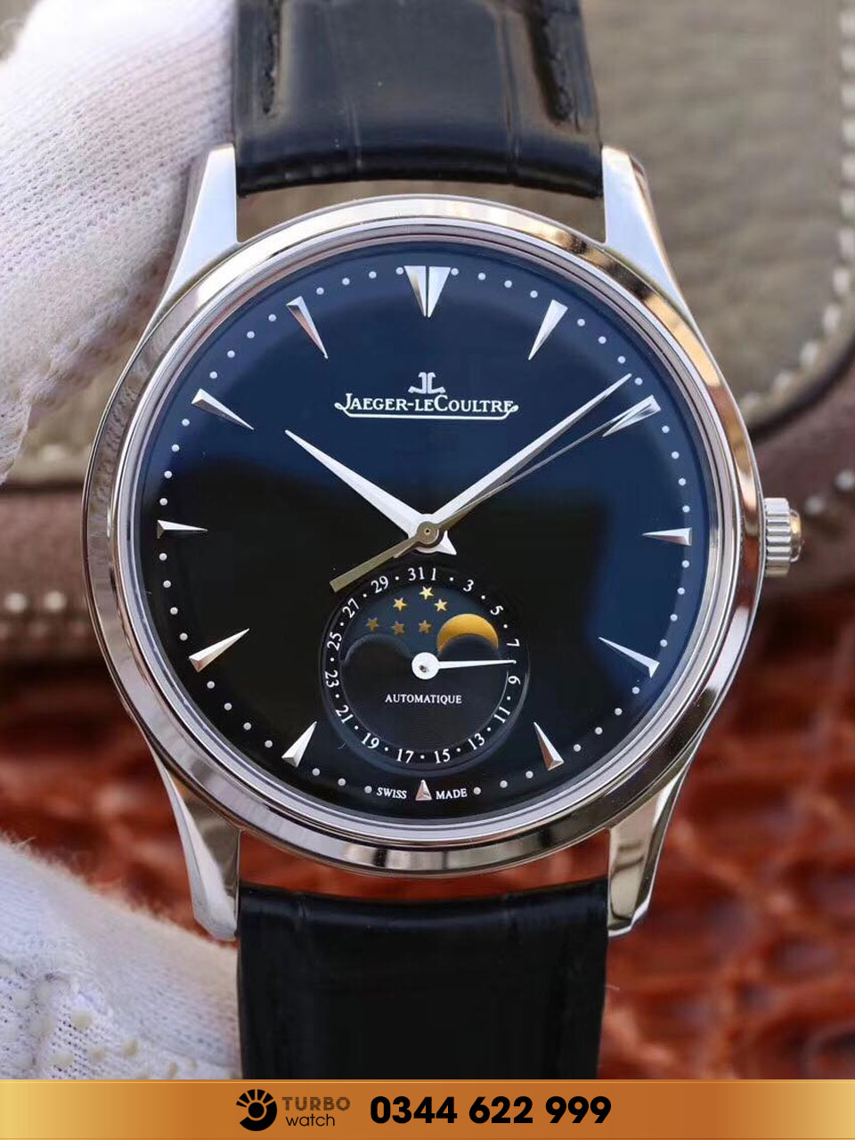 Jaeger-Lecoultre Master Ultra Thin Moon Automatic BLUE FAKE 1-1 CAO CẤP