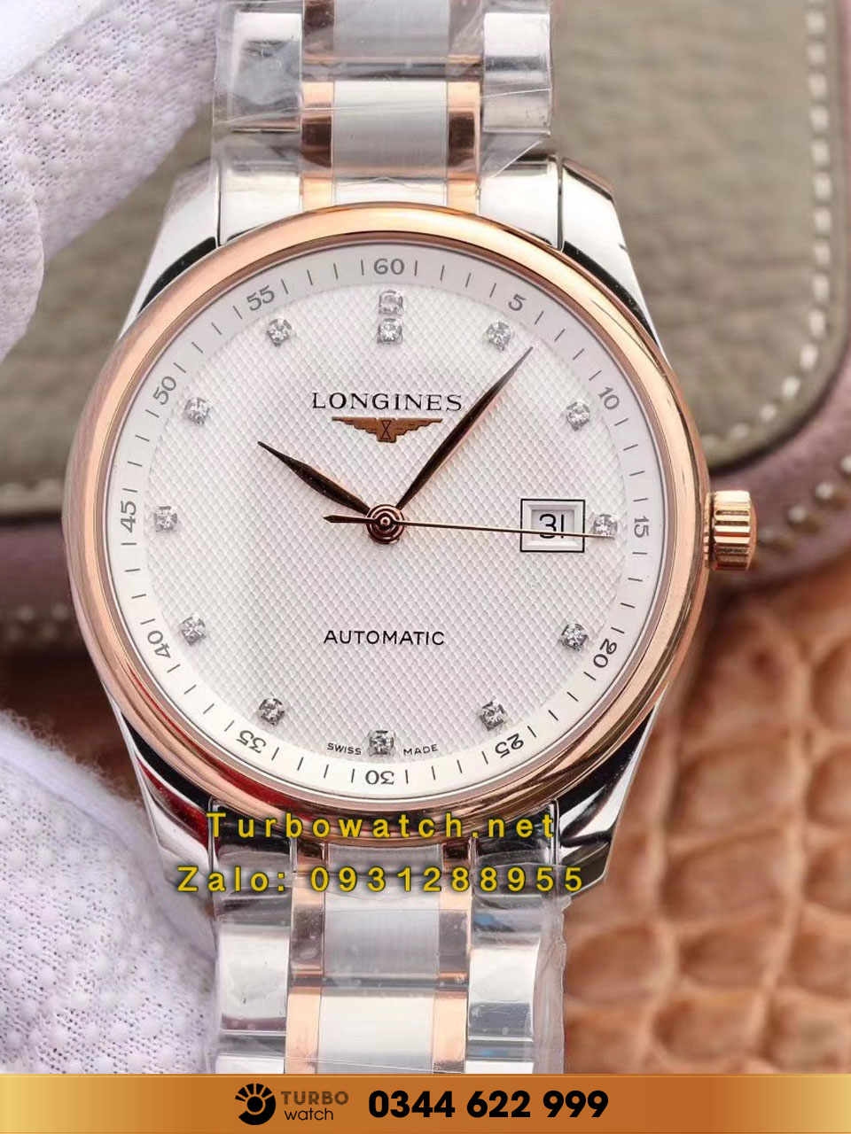 LONGINES Master Collection 38mm Stainless  Gold replica 1:1 cao cấp