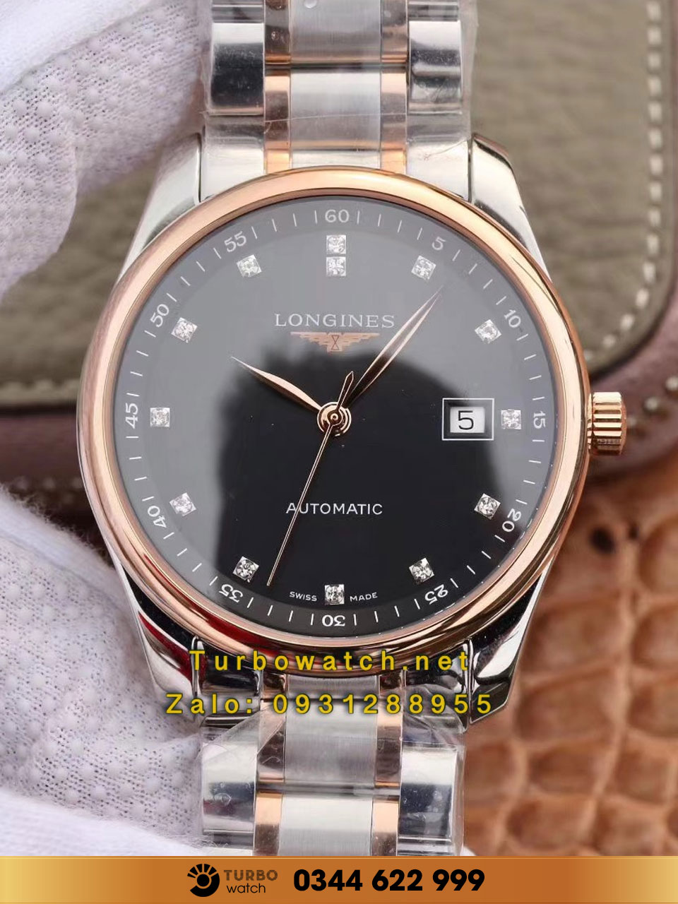 LONGINES MASTER COLLECTION L2.628.5.11.7 black fake 1-1 cao cấp