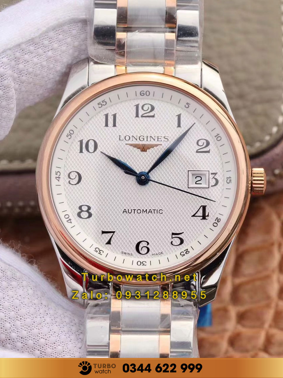 LONGINES Master Collection 38mm Stainless Steel/Gold replica 1:1 cao cấp