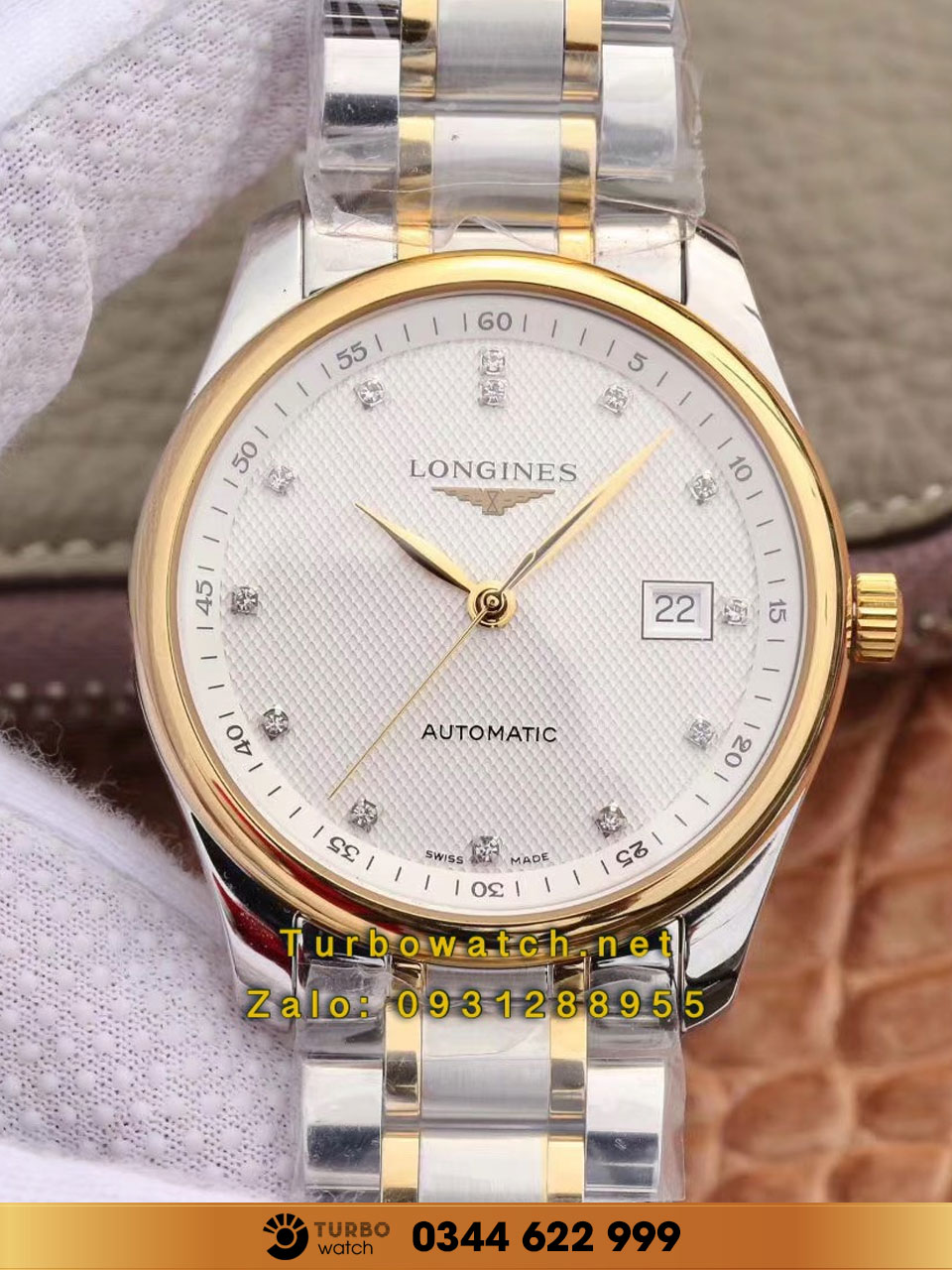 LONGINES Master Collection 38mm Stainless Steel/Gold fake 1-1 siêu cấp