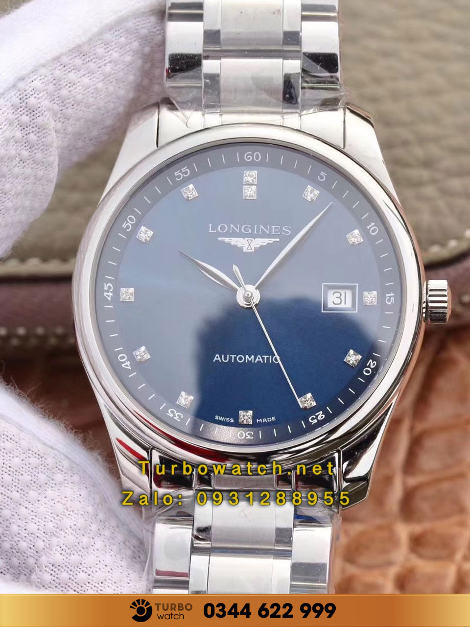 LONGINES MASTER COLLECTION 38MM BLUE DIAL AUTOMATIC replica 1-1 cao cấp