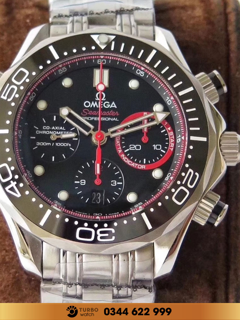 Omega seamaster professional co-axial chronometer 300m 1000ft replica 1:1 cao cấp