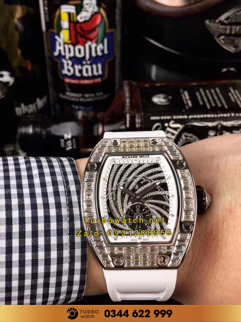 RICHARD MILLE Richard Mille RM 051-02 Tourbillon Diamond Twister Pavé FAKE 1-1 SIÊU CẤP