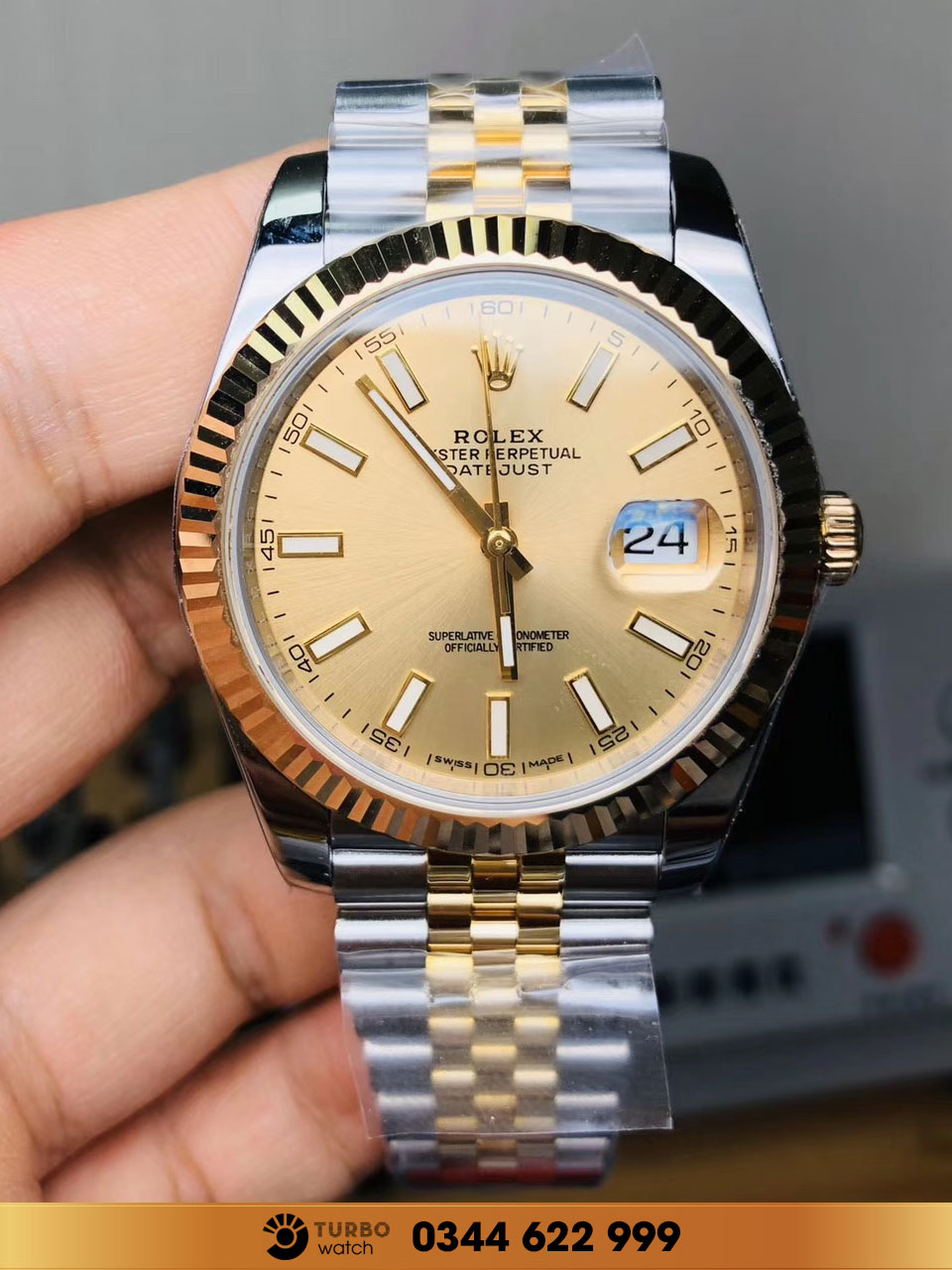 Rolex DATEJUST OYSTERSTEEL AND YELLOW GOLD replica 1-1 siêu cấp