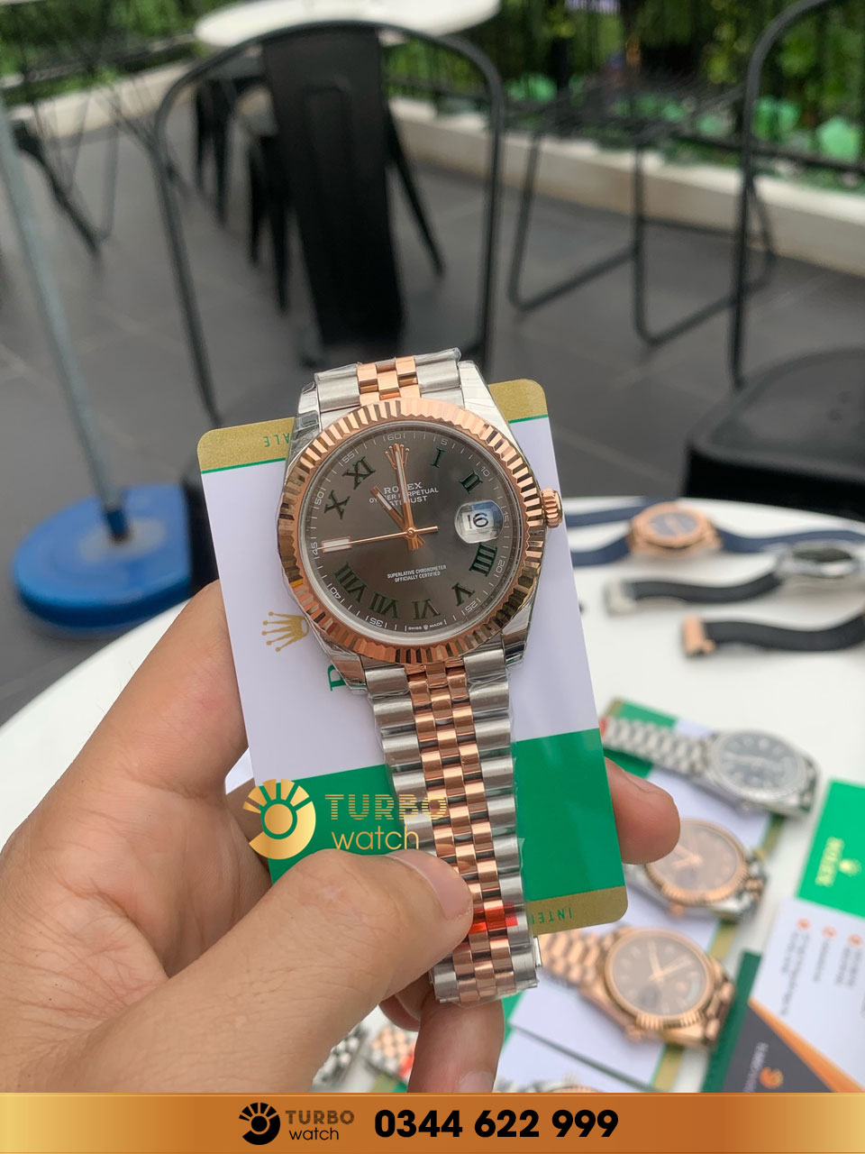 Rolex  Datejust 41 mm 126331 18K Rose Gold/Stainless Steel Oyster fake 1-1 siêu cấp