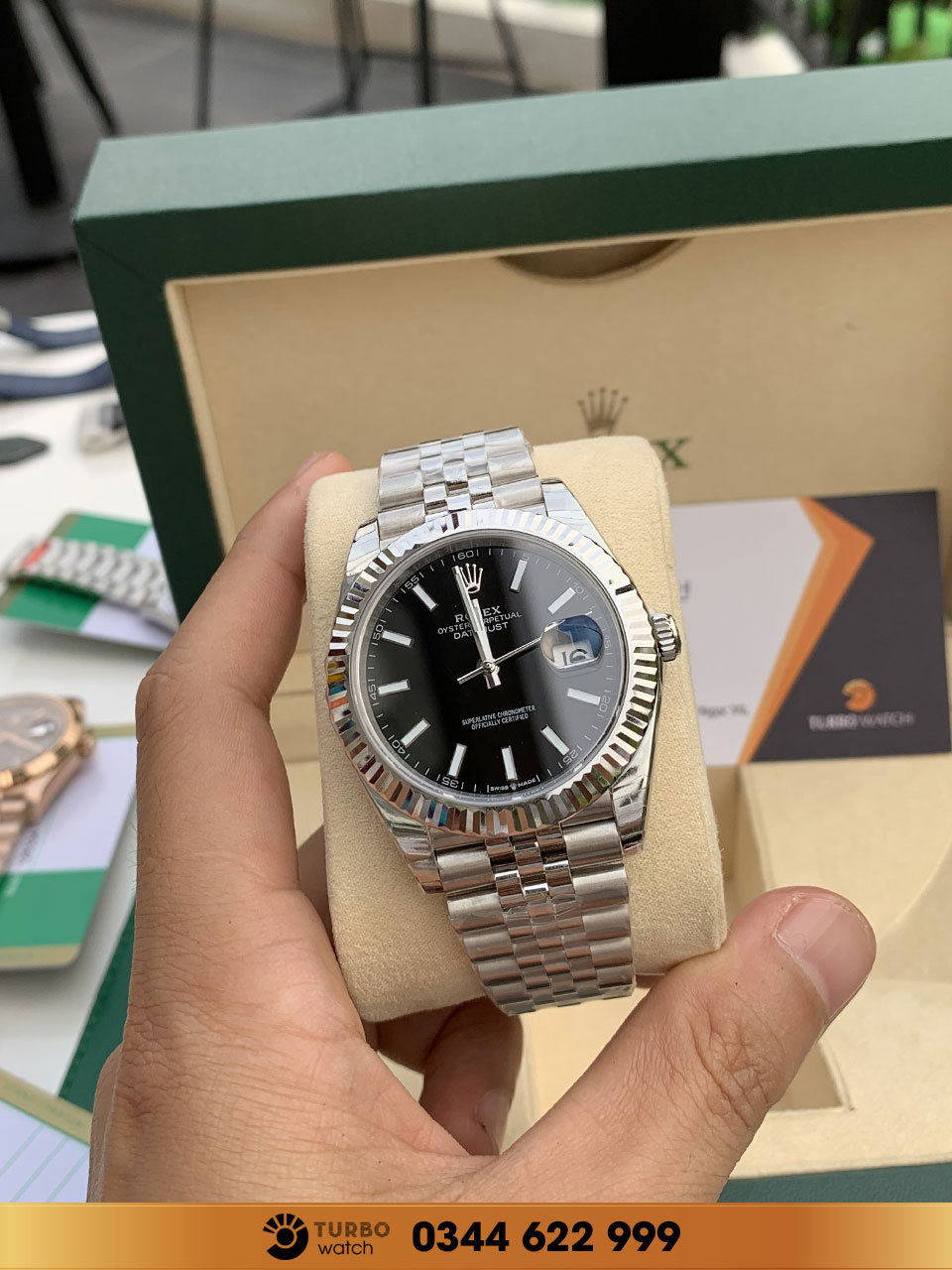 Rolex Oyster Perpetual Datejust Black Dial Jubilee fake 1-1 siêu cấp