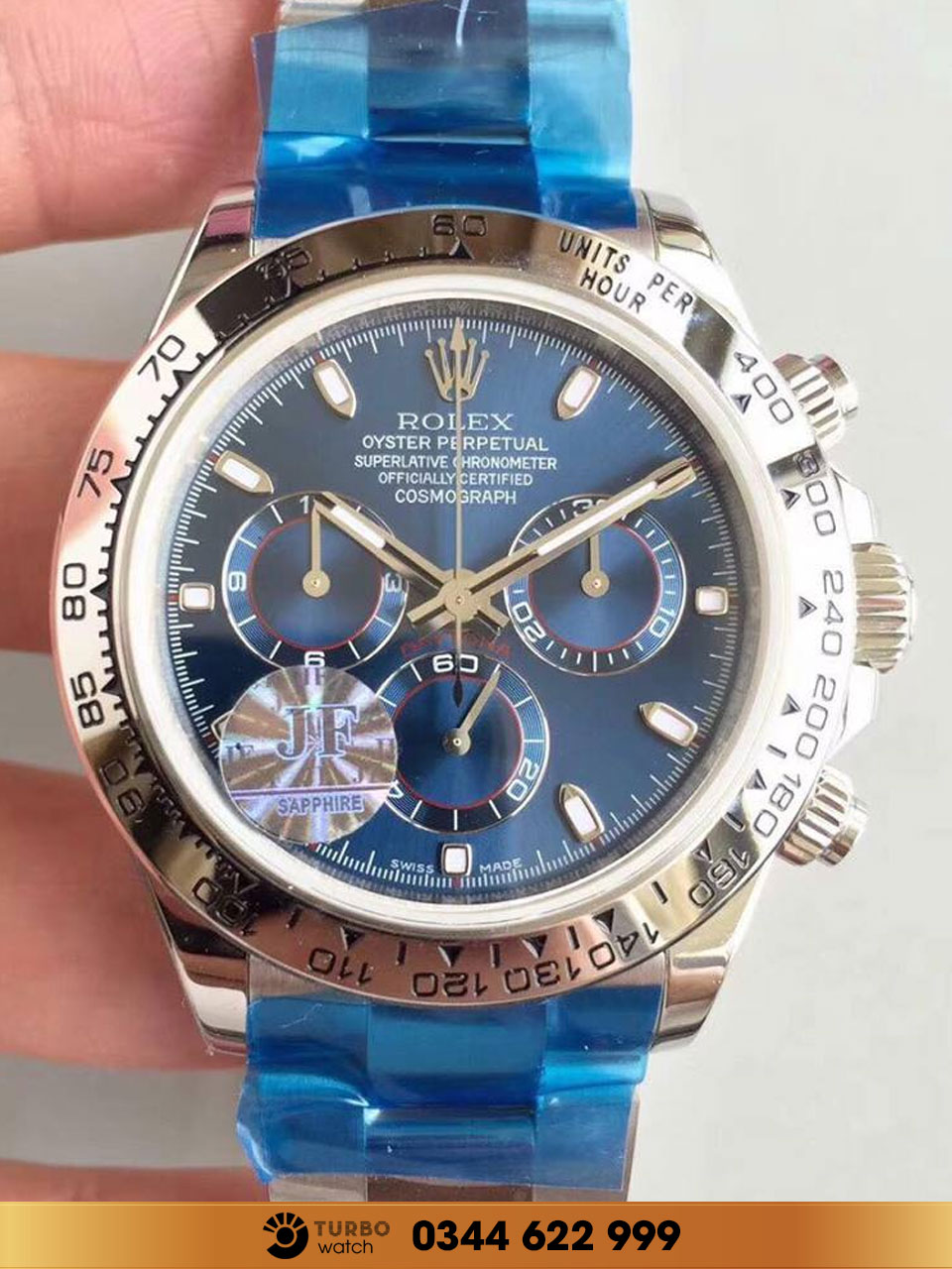 Rolex Daytona Oyster Perpetual Cosmograph Marker Blue fake 1-1 siêu cấp