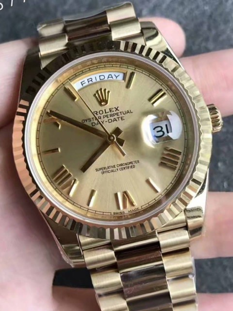 đồng hồ Rolex replica 1-1 Day-Date  Watchct yellow